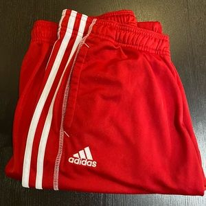Adidas Red FlareTrack Pants